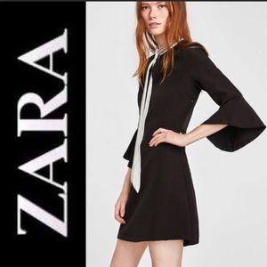 Zara Embellished Collard Dress